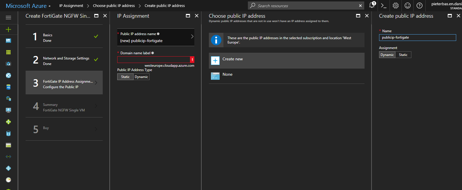 Create NGFW Fortigate (Single VM) – Azure IT is!
